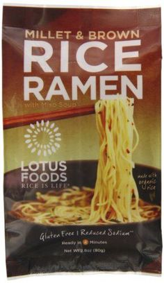 Lotus Foods Rice Ramen Noodles, Millet and Brown Rice with Miso Soup, 10 Count *** Click on the image for additional details.