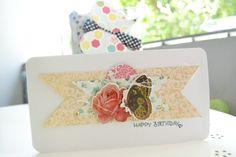 Gescrappt: Geburtstagskarte für Linda - ♥ - kaffeeliebelei - ♥