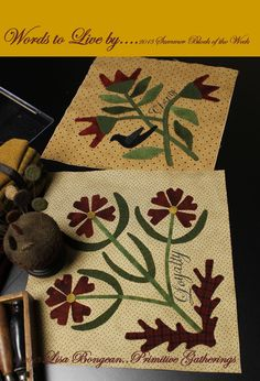 summer-2013-block of the week  lisa bongean/primitive gatherings