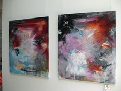 Rikke Laursen moderne abstracte paintings | Exhibition, HOFOR - see paintings