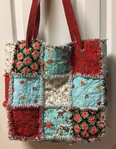 Rag quilt with matching bag by RagQuiltsByLisa on Etsy, $80.00 ... : quilt bag - Adamdwight.com