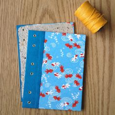 """Here's the """"before"""" pic of the new goldfish journal I just listed in my shop!"""
