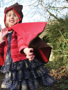 EXPLORE Capes - Red Riding Hood and the Wolf reversible play cape - handmade in Pembrokeshire