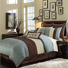 @Overstock.com - Update your bedroom decor with a Veneto comforter set  Set includes comforter, two shams, bedskirt, two decorative pillows and two euro shams  Eight-piece bedding set showcases shades of blue, tan and brownhttp://www.overstock.com/Bedding-Bath/Veneto-Blue-8-piece-Comforter-Set/4092903/product.html?CID=214117 $127.99