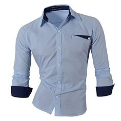 Jeansian Hombre Camisas Moda Manga Larga Men Fashion Slim Fit Casual Long Sleeves Shirts 8522 LightBlue S Jeansian http://www.amazon.es/dp/B00NARB6GM/ref=cm_sw_r_pi_dp_buFOwb02XKWDH