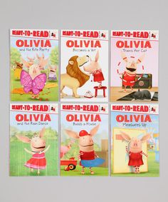 Take a look at this OLIVIA Ready-to-Read Value Pack Paperback Set by OLIVIA on #zulily today!