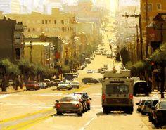 Jeremy Mann (San Francisco) 'Midday Haze in Yellow'
