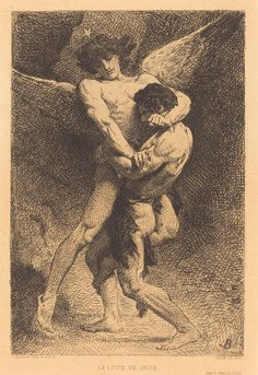 La Lutte de Jacob (Jacob Wrestling with the Angel), 1876, by Leon Bonnat