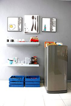 An Old House renovated into a Modern Family Home Modern Family, Home And Family, Bathroom Medicine Cabinet, House Tours, Refrigerator, Condo, Kitchen, Ideas, Cooking