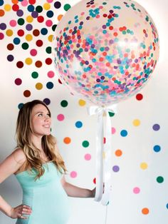 How To Throw a Sprinkles Baby Shower--many easy ideas from diy confetti filled balloons to donuts sprinkled with love. Shower Party, Baby Shower Parties, Baby Shower Themes, Baby Shower Decorations, Shower Ideas, Baby Sprinkle Decorations, Shower Favors, Bridal Shower, Sprinkle Shower