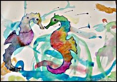 Art- With the help of coffee filters, markers, and some water, you can make a beautiful sea horse