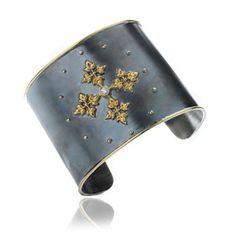 Annoushka Jewellery 18ct gold, diamond and oxidised silver Ottoman Cuff £3,950