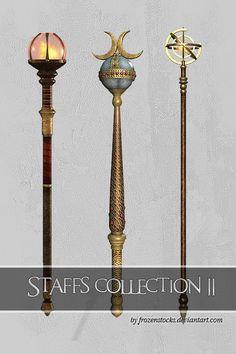 Staffs Collection 2 by ~frozenstocks on deviantART