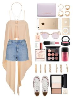 """""""Untitled #197"""" by kreay-1 ❤ liked on Polyvore featuring Topshop, Converse, Forever 21, MAC Cosmetics, Le Specs, Decree, Ted Baker and Chanel"""