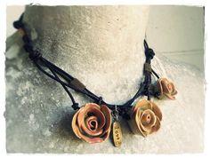 Cindy Forrester Studio - Ceramic Rose necklace