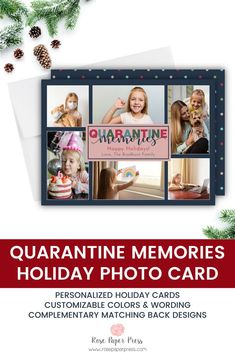Share quarantine memories and holiday greetings with polka dots holiday photo cards. Need to add more pictures or share a detailed message? Add a complementary custom back upgrade. We design, personalize, and professionally print your holiday cards for you. Shop Holiday Cards today.