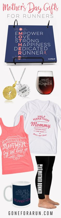 Treat your mother to gear and accessories that represent her running lifestyle! Perfect for not just mother's day, but birthdays, Christmas, Hanukkah, whenever!