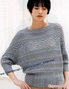 Делюсь моделькой пуловера, связанного поперечным вязанием. Думаю, что схемы понятны, и, если понравилось, то можно и воплотить! Из ангоры, из хлопка, шерсти, акрила-кому что нравиться.