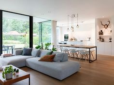 Home Living Room, Living Room Designs, Living Room Decor, Flat Interior Design, Tiny House Design, Minimalist Home, Porches, Furniture Design, New Homes