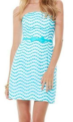 Lilly Pulitzer Leavens Strapless Fitted Dress