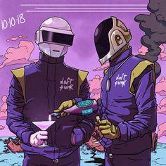 vaporwave desenho daft punk by on DeviantArt Daft Punk Poster, Punk Baby, Cool Robots, Arte Cyberpunk, Old School Music, Deviantart, Vaporwave, Erotic Art, Art Music