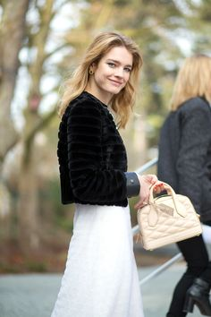 3.11.15  Natalia Vodianova in LV PF15 (Look 13)  at Louis Vuitton F15 show during PFW