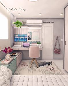 Best small bedroom ideas to make the most of your space 1 Small Bedroom Designs, Room Design Bedroom, Small Room Bedroom, Home Room Design, Bedroom Decor, Small Girls Bedrooms, Bedroom Ideas, Glam Bedroom, Cozy Bedroom