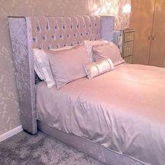 Best Silver Grey Crushed Velvet Bedroom House Bedroom Decor 400 x 300