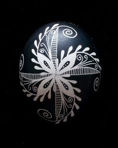 "Ukrainian Eggs Symbols | Feathered Pinwheel"" Chicken Egg Pysanky"