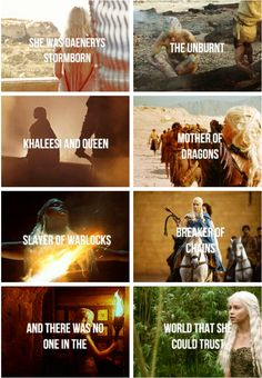 She was Daenerys Stormborn, The Unburnt, Khaleesi and Queen, Mother of Dragons, Slayer of Warlocks, Breaker of Chains...and there was no one in the world that she could trust.