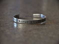 "What Would Stiles Do? ""Teen Wolf"" Inspired Handstamped Aluminum Cuff Bracelet"