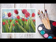 Уроки рисования! Как нарисовать маки/цветы в вазе гуашью! #Dari_Art - YouTube