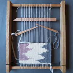 Weaving Loom Kit - Weaving frame, shed stick, yarn needle, weaving warp and yarn