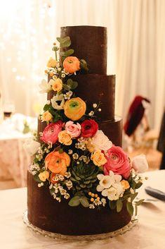 Wedding Cake #chocolatecake #flowercake #homemadecake