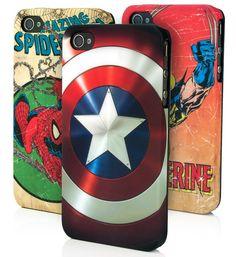 Case de Super-heróis da Marvel para seu iPhone 4.