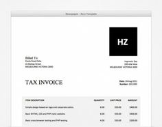 i call this xero invoice template bold blue. | xero templates, Invoice templates