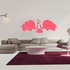 PVC Wall Stickers Cartoon Decals DIY Children Sticker Elephant Wall Sticker Home Decor Poster Kids Rooms Wall Decoration BA