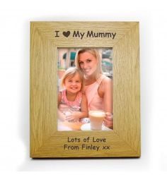 Oak Finish 6x4 I Heart Frame | Photo Frames | Exclusively Personal
