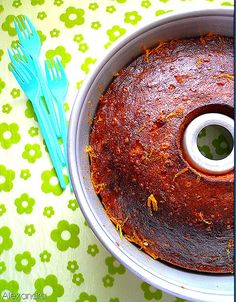 Coffee cake with orange syrup Greek Recipes, My Recipes, Cake Recipes, Dessert Recipes, Desserts, Brownies, Orange Syrup, Chocolate Bowls, Greek Sweets