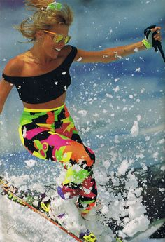 Vintage 80's #ski #style. Bring back the old school! | snowzine.com