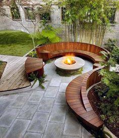 Backyard Patio Designs, Small Backyard Landscaping, Patio Ideas, Firepit Ideas, Garden Ideas, Diy Patio, Mulch Landscaping, Pavers Ideas, Backyard Pools