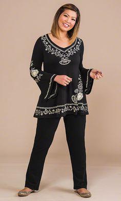 Cordelia Embroidered Top / MiB Plus Size Fashion for Women / Fall Fashion http://www.makingitbig.com/product/4925