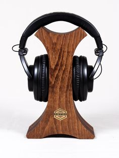 Welcome to the Rockwood - wooden accessories shop! - STARE-CUT - Headphones stand. Made of two parts of beech (a genus of deciduous trees in the