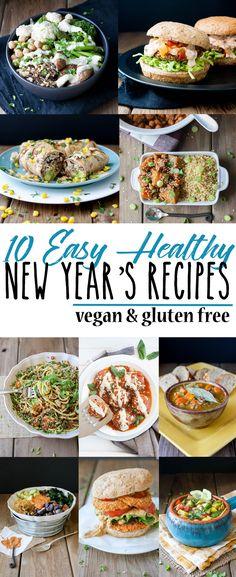 Top 10 Easy Healthy New Years Recipes | www.veggiesdontbite.com | #vegan #plantbased #wholefoods #glutenfree  via @veggiesdontbite
