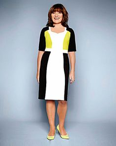 ddeb7277286b Lorraine Kelly Colour Block Dress - This illusion dress makes wearing white  effortless. The contrast