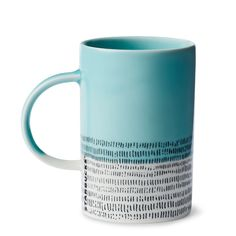 As uplifting as clear skies after rain, this unique ceramic coffee mug is a welcome sight.