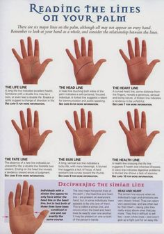 Palmistry basics, reading the lings on your palm.