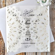 House of scrap - Kaleidoscope Ivory Pearl Laser Cut Wedding Invitations, Ivory Pearl, Scrap, Pearls, Decor, Decoration, Beads, Decorating, Deco