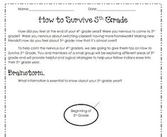 essay topic ideas for 5th graders