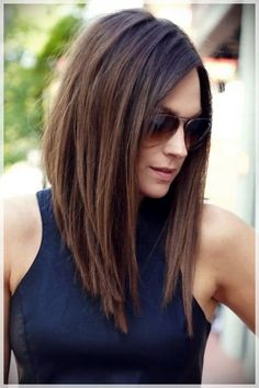 108 Asymmetrical Bob Hairstyles - This Century's Most Versatile Hairdo how to cut your own hair long bob style - Hair Cutting Style Long Angled Bob Hairstyles, Asymmetrical Bob Haircuts, Short Haircuts, Long Asymmetrical Bob, Medium Haircuts, Layered Haircuts, Long Graduated Bob, Medium Angled Bobs, Medium Layered